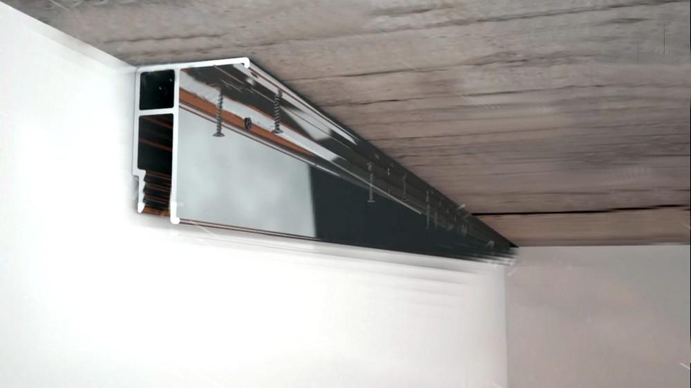 Потолочный багет для монтажа натяжного потолка
