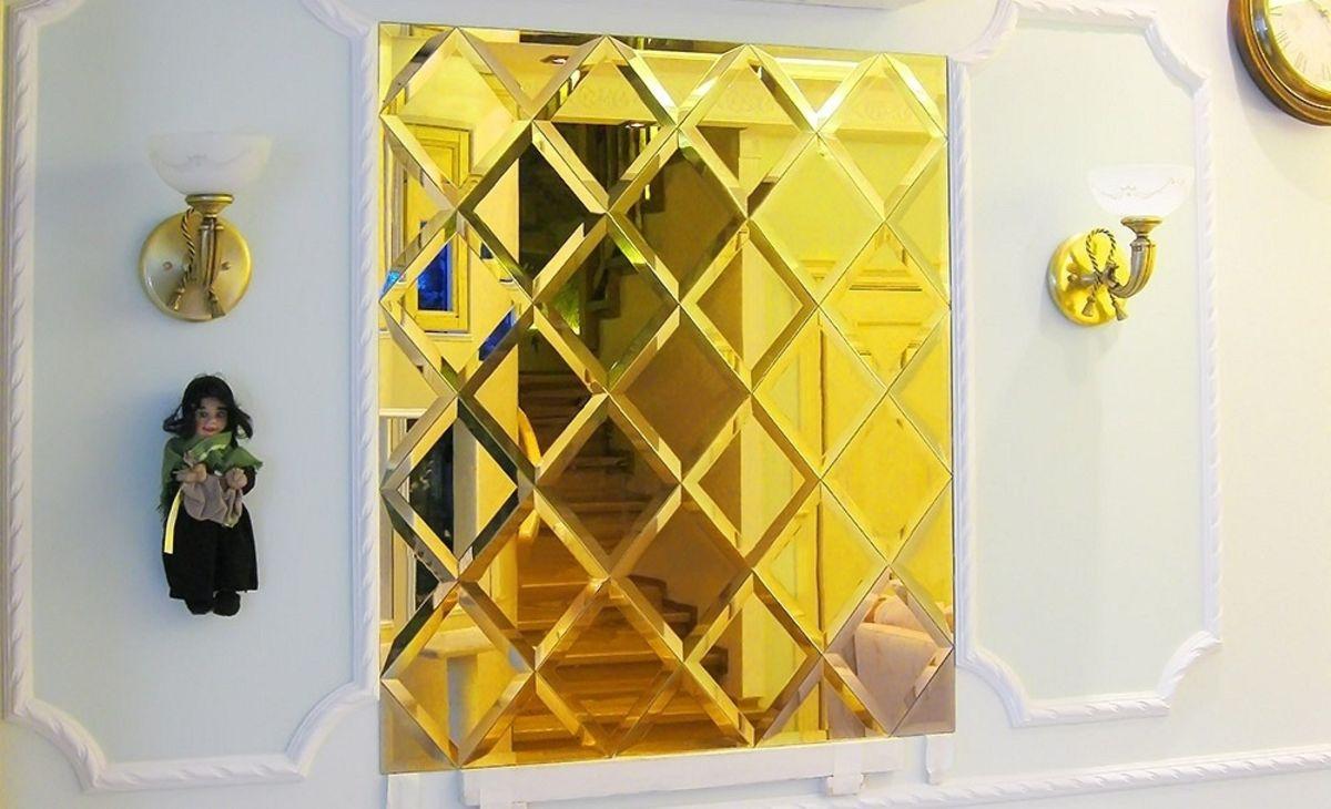 Фацет на золотом на зеркале