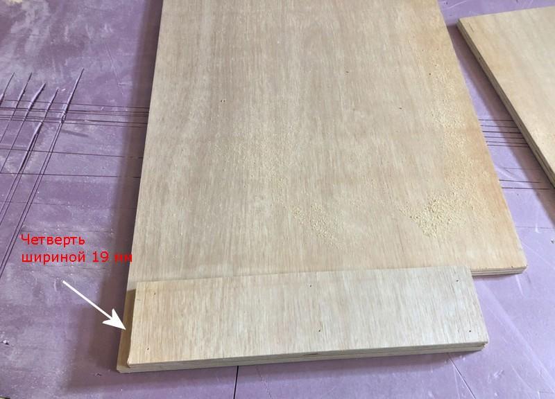 Бок кухонного модуля и бок опорного короба