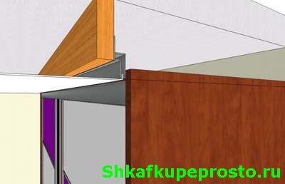 Корпусной шкаф купе и натяжной потолок.