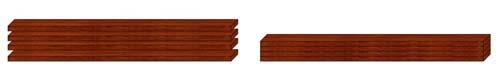 Закладной брус из ДСП для монтажа верхней направляющей