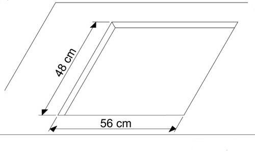 Схема врезки варочной поверхности.