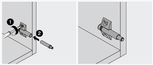 Установка доводчика с использованием крестообразного держателя.