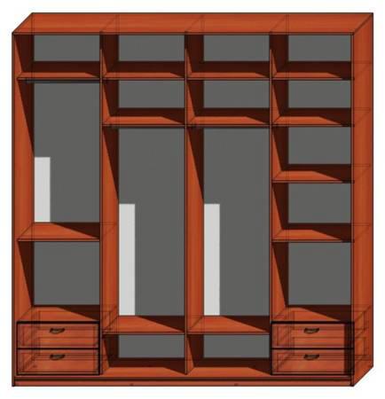 Дверные шкафы четырехдверные шкафы