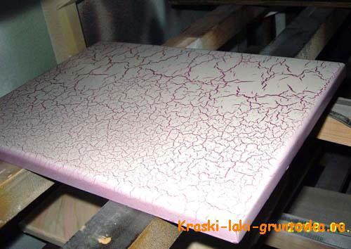 Эффект краколет - растрескивания на поверхности фасада МДФ.