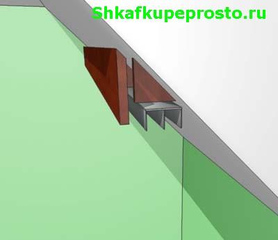 Установка верхней фронтальной фальшь панели.
