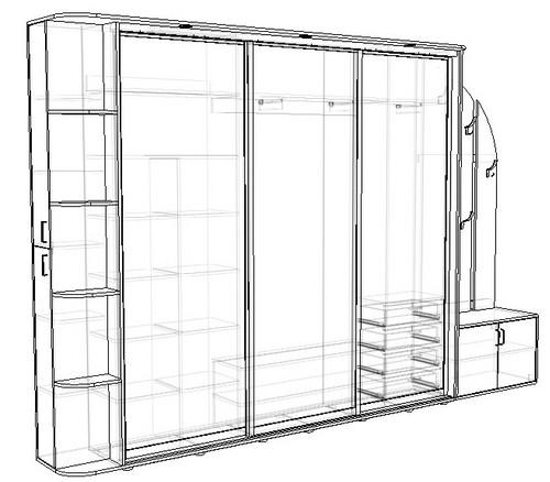 Визуализация проекта вашего будущего шкафа купе.