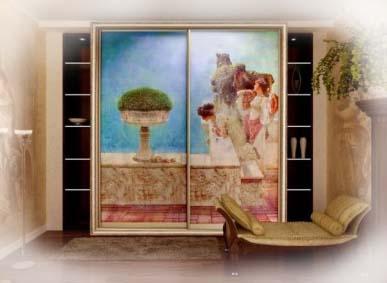 Шкаф купе с фреской.