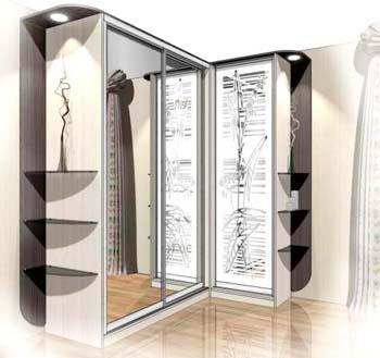Дизайн шкафов купе угловых