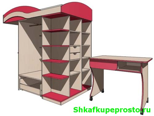 Интересный дизайн двухъярусных кроватей