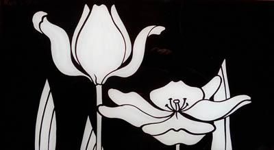 Дизайнерская роспись на стекле