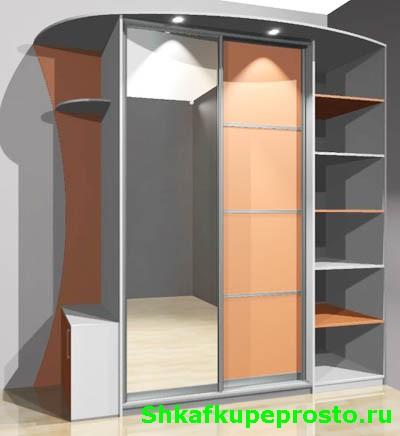 Шкаф купе индивидуального дизайна в Калининграде.