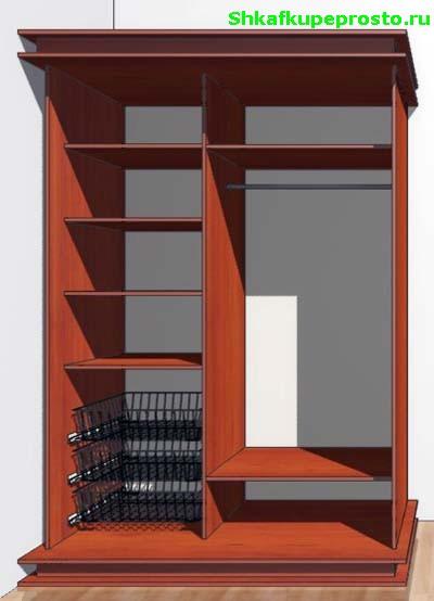 Встроенный шкаф в коридор своими руками