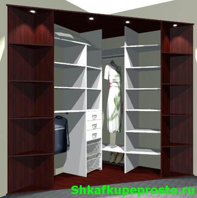 угловой шкаф купе как полноценная гардеробная Shkafkupeprostoru