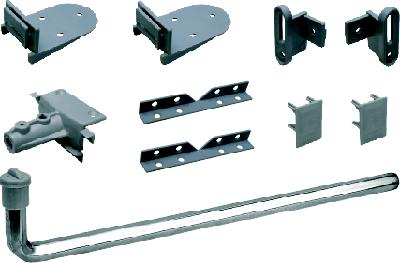 Комплект дополнительной фурнитуры для изготовления дверей купе в мансарду от Komandor.