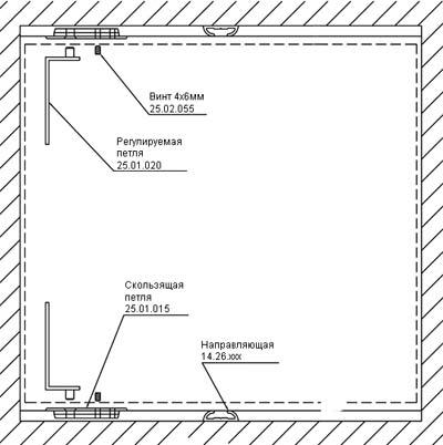 Схема установки распашной
