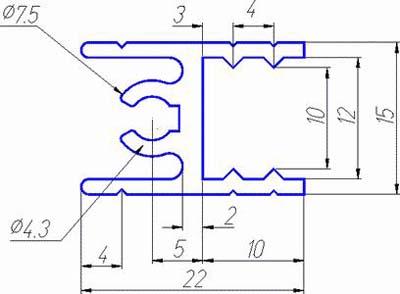 Алюминиевый профиль для шкафов-купе - АПТО