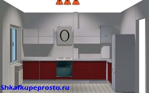 Конечный вид кухни при проектировании своими руками.