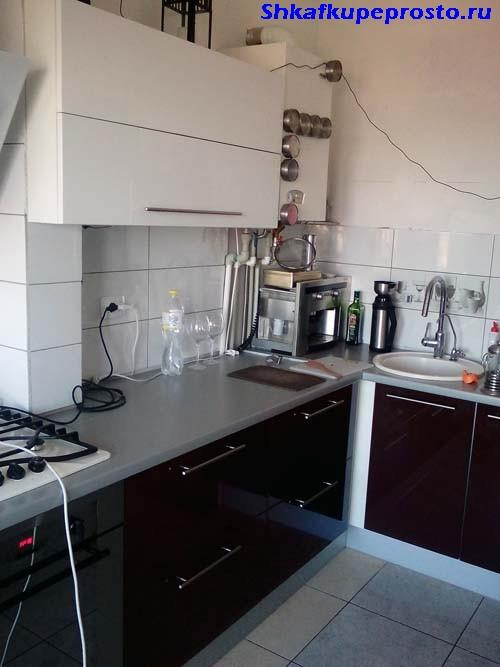 Фрагменты кухни в процессе изготовления по проекту.