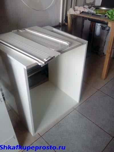 Использование направляющих метабокс для изготовления тумб с двумя ящиками.