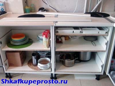 Тумбы на направляющих метабокс для кухни своими руками.