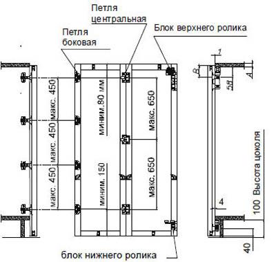 складных дверей купе 40 мм