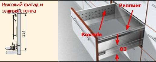Тандембокс со стальным Boxside