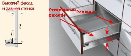 Тандембокс со стеклянным Boxside