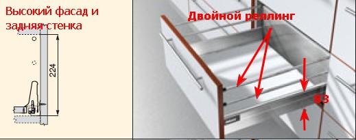 Тандембокс с двумя реллингами