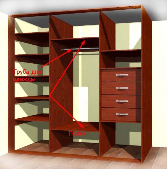 Как своими руками сделать шкаф платяной шкаф