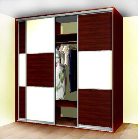 Встроенный шкаф купе - устанавливаем двери купе