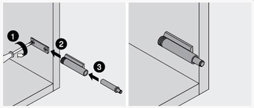 Установка доводчика с использованием прямого держателя.