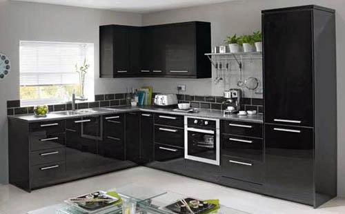 Фото кухни чёрного цвета
